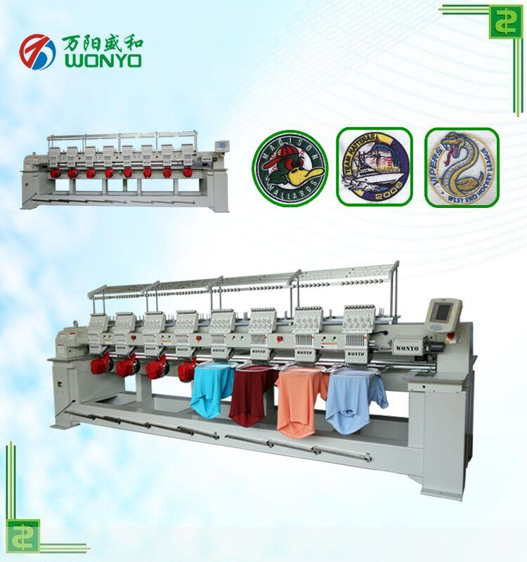 Shenzhen Wanyang Technology Co Ltd 8 Head Industrial Embroidery